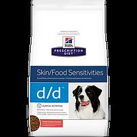 Hills (Хилс) Prescription Diet Canine d/d (2 кг) лечебный корм для собак (лосось и рис)