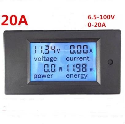 Ваттметр,Ампермтр,вольтметр PeaceFair PZEM-031 LCD DC 6,5V-100V / 20A