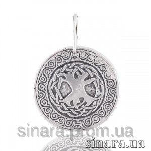 Серебряная круглая подвеска