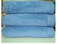 Полотенце махровое банное 85*150 микрокотон голубое Maison D'or