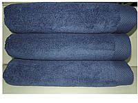 Полотенце махровое банное 85*150 микрокотон темно-синий Maison D'or