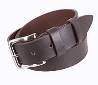 Мужской кожаный ремень коричневый от Итальянского бренда