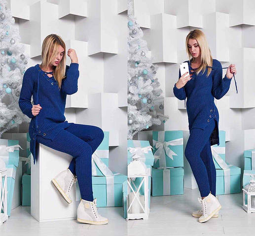 Женский костюм, тёплая вязка 50% шерсть 50% акрил, р-р универсальный 42-46