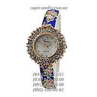 Яркие женские наручные часы Geneva Kids Quartz Blue