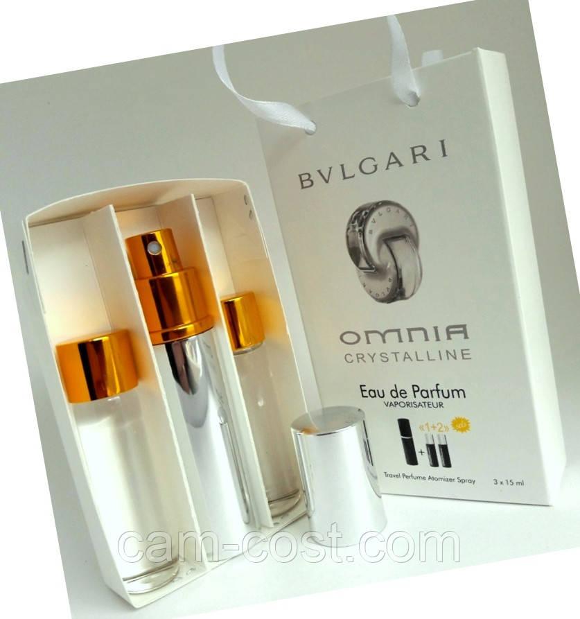 """Подарочный набор 3в1 с феромонами Bvlgari """"Omnia Crystalline"""" для женщин"""