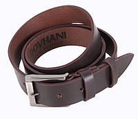 Мужской кожаный ремень под джинсы коричневый от Итальянского бренда