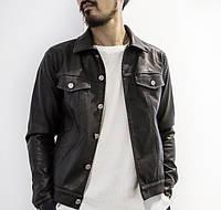 Мужская черная куртка на пуговицах BEEDEE
