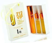 """Подарочный набор 3в1 с феромонами Carolina Herrera """"212 VIP"""" для женщин"""