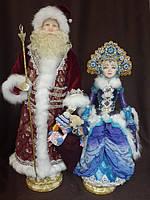 Дед Мороз и Снегурочка, 64 и  54 см, Фимо. Зикрань Ирина, 2016год.