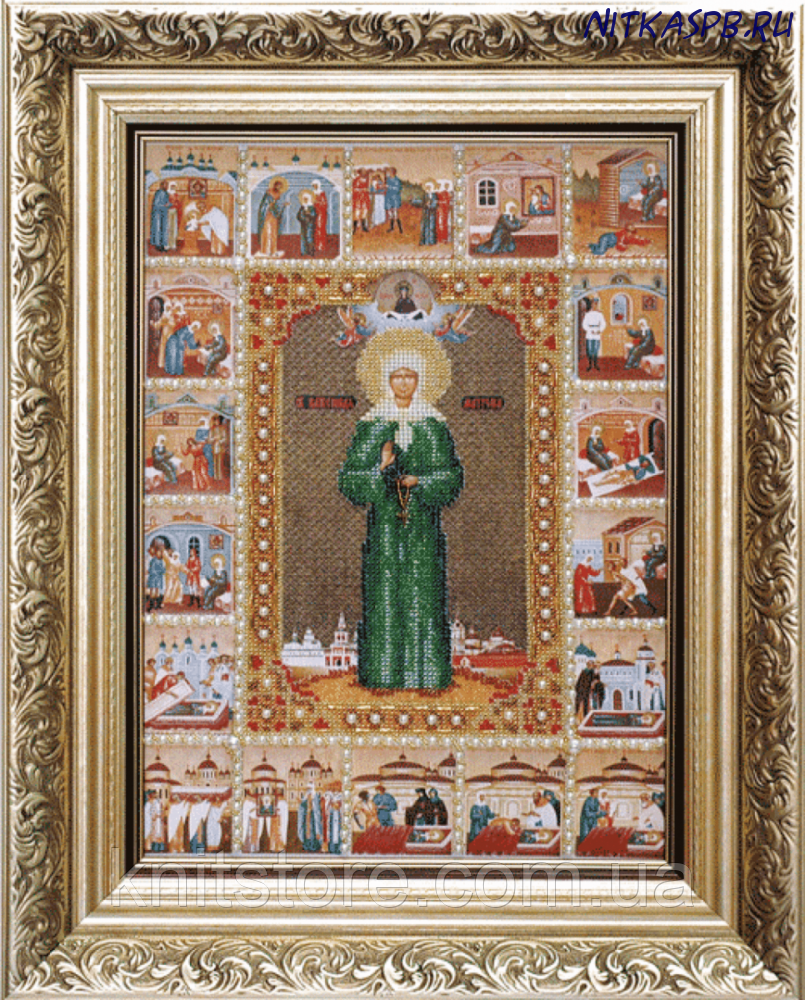 Набір для вишивки бісером Ікона Свята Блаженна Матрона Московська