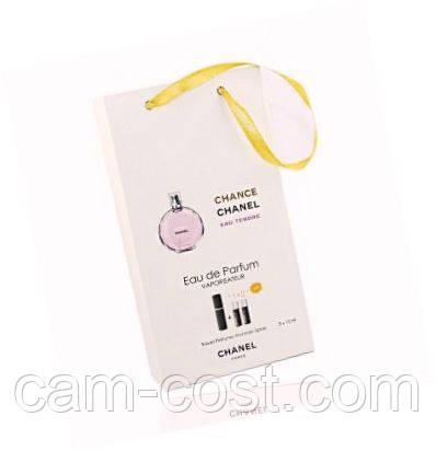 """Подарочный набор 3в1 Chanel """"Chance Eau Tendre"""" для женщин"""