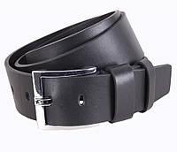 Джинсовый мужской кожаный ремень черный 4,5 см от Итальянского бренда