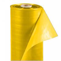 Плёнка ПЭ СОЮЗ 150мк, полурукав 3,0м, длина 50м, стабилизированная, жёлтая