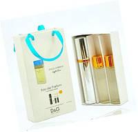 """Подарочный набор 3в1 с феромонами Dolce & Gabbana """"Light Blue"""" для женщин"""