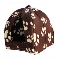 Мягкий домик Pet Hut для собак и кошек на флисе