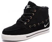 Мужские зимние кроссовки Nike Top Fur (Найк) с мехом черные