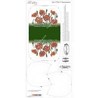 Схема для вышивания бисером Tela Artis Маковая феерия, фон белый СТ-004 (1)