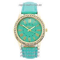 Необычные женские наручные часы Geneva Gold-Turquoise-Turquoise