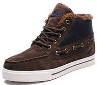 Мужские зимние кроссовки Nike Top Fur, Найк с мехом коричневые