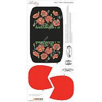 Схема для вышивания бисером Tela Artis Маковая феерия, фон черный/красный СТ-004 (3)