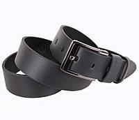 Мужской кожаный ремень под джинсы черный 4 см от Итальянского бренда
