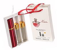 """Подарочный набор 3в1 Nina Ricci """"Nina"""" (красное яблоко) для женщин"""