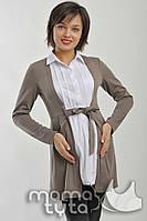 Рубашка - Кардиган Мария. Серый Меланж