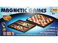 Набор магнитный 3 в 1 (шахматы, нарды и шашки)