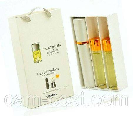 """Подарочный набор 3в1 с феромонами Chanel """"Platinum Egoiste"""" мужской"""