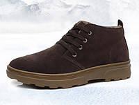 Мужские легкие зимние ботинки на меху