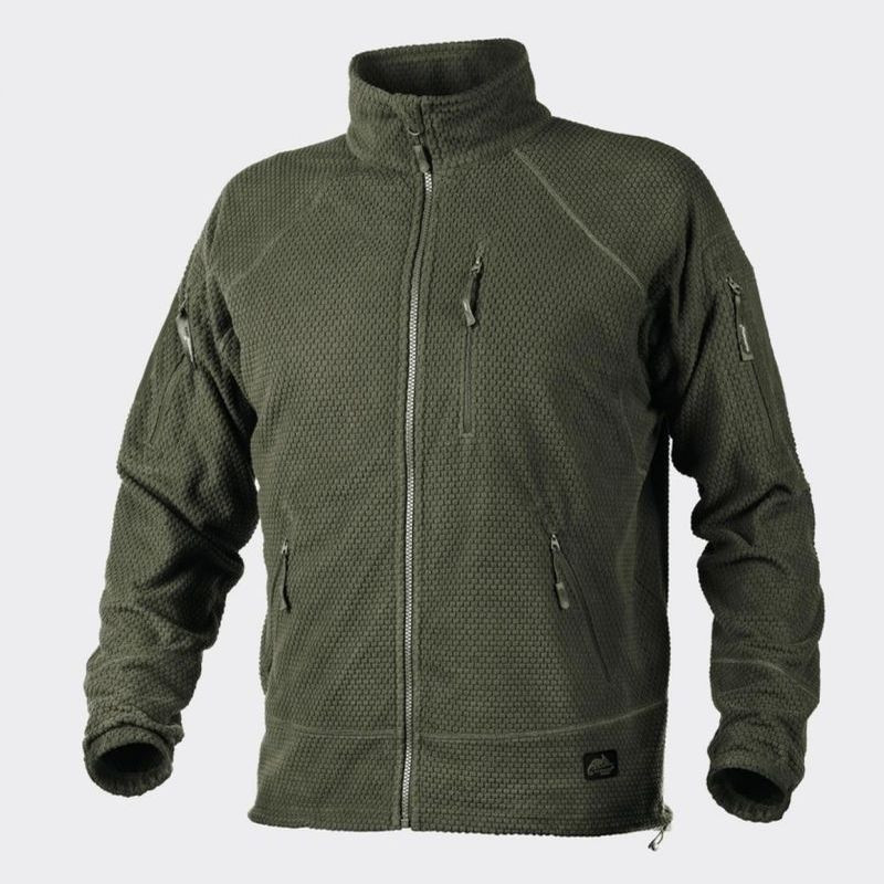 Куртка ALPHA TACTICAL - Grid Fleece - олива