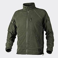 Куртка ALPHA TACTICAL - Grid Fleece - олива   BL-ALT-FG-02