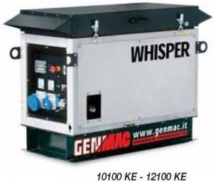 Однофазный бензиновый генератор GENMAC Whisper 10100KE (10 кВт)