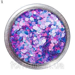 Шестигранники цветные в баночке №1