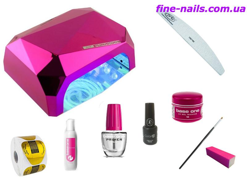 Стартовые наборы для наращивания ногтей №10  Гибридная лампа - fine-nails.com.ua - все для ногтей в Херсоне