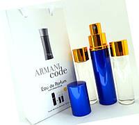 """Подарочный набор 3в1 Giorgio Armani """"Code for Men"""" мужской"""