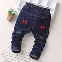 Детские модные джинсы на девочку зая