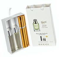"Подарочный набор 3в1 с феромонами Gucci ""By Gucci Sport Pour Homme"" мужской"