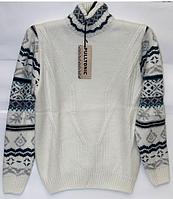 Шерстяной мужской свитер Pulltonic с узором