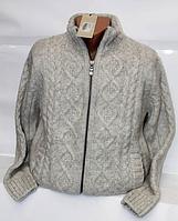 Теплый шерстяной мужской свитер Pulltonic на замке с подкладкой