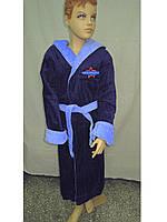Халат махровый  для мальчика на 15-16 лет синий