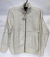 Тёплый шерстяной мужской свитер Pulltonic на молнии с подкладкой