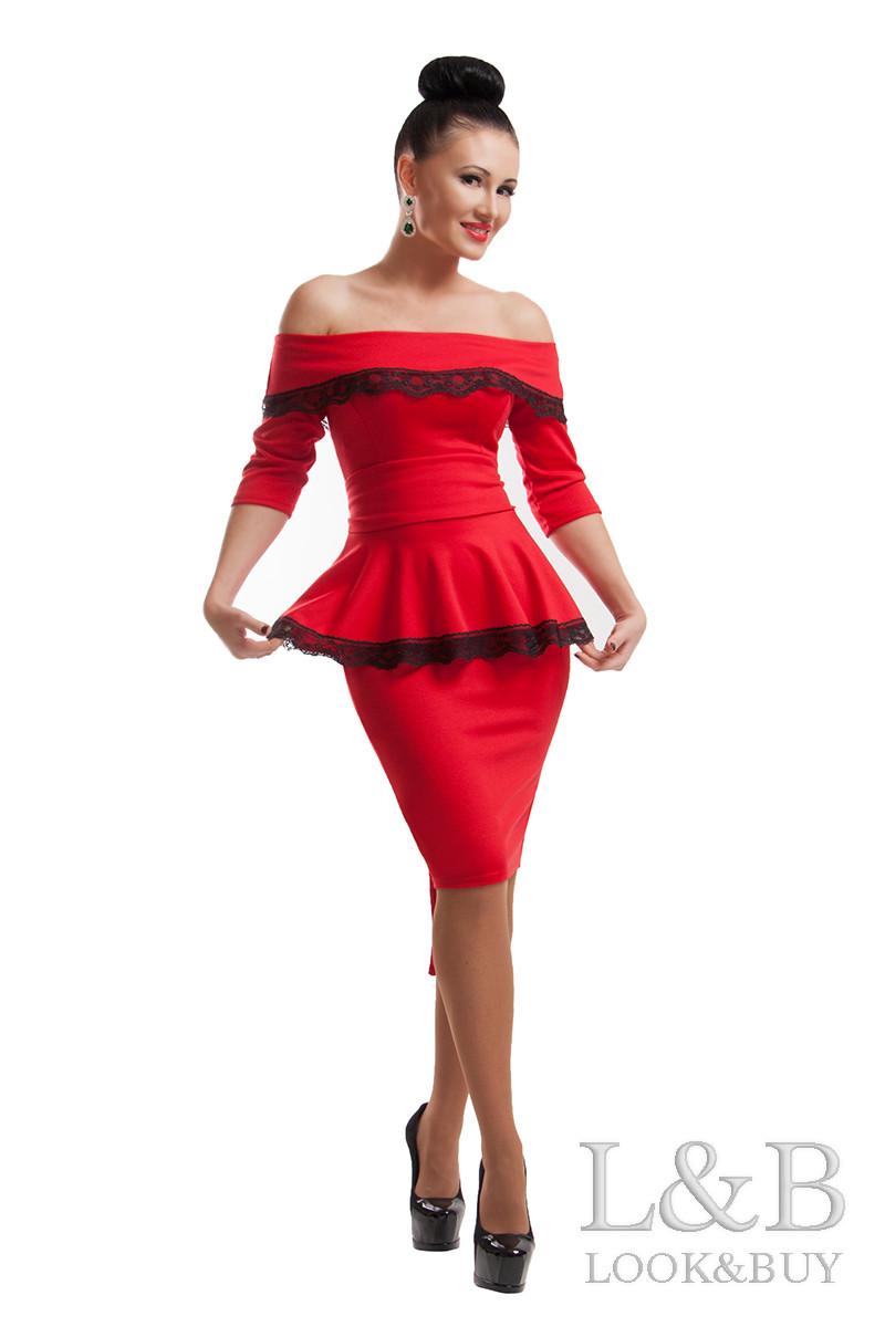 Нарядное платье ФРЕНЧ красный