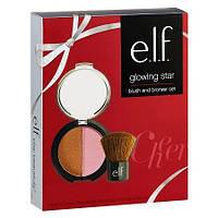 Подарунковий набір: рум'яна, бронзер, пензлик кабукі e.l.f. Glowing Star Blush & Bronzer Set