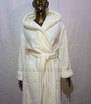 Банный халат женский короткий, плюшевая махра, Турция