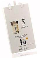 """Подарочный набор 3в1 с феромонами Yves Saint Laurent """"L'home"""" мужской"""