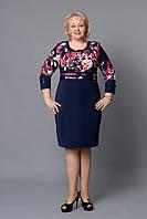 """Платье женское """"Мэри"""" сочетание одноцветной и фактурной тканей"""