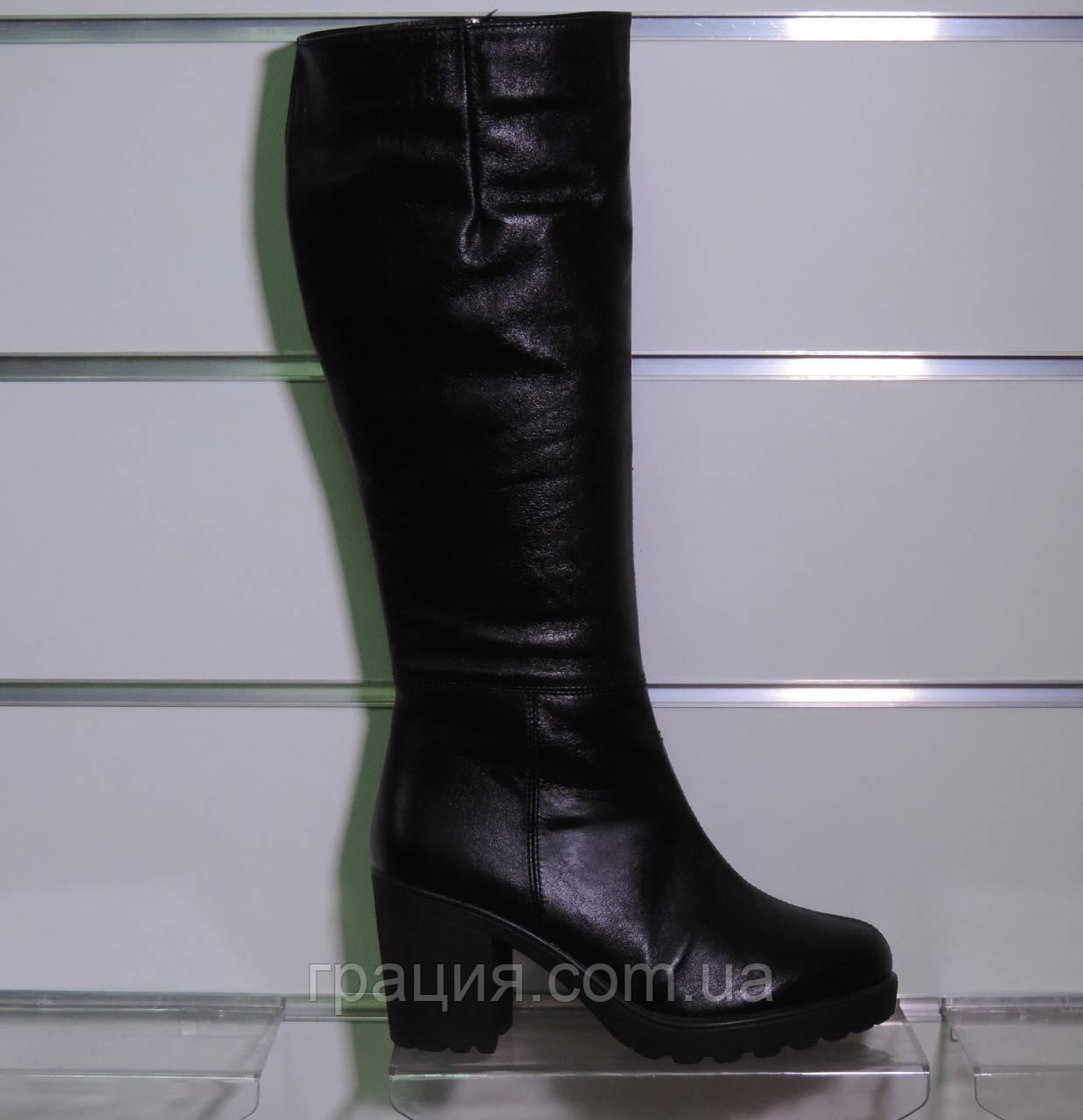 Сапоги женские зимние на каблуке