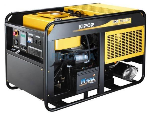 Однофазный дизельный генератор KIPOR KDE12EAO (9,5 кВт)