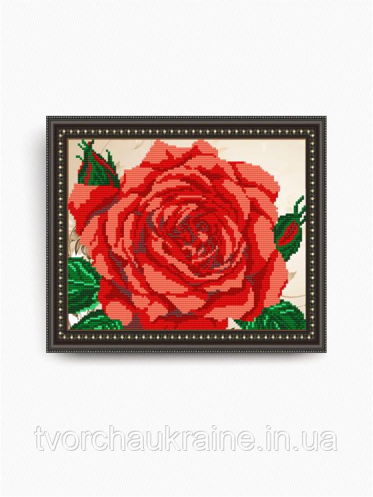 Авторская канва для вышивки бисером «Роза»